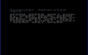 A Text Thing VIC-20 screenshot