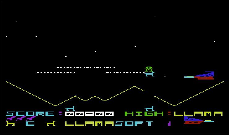 Andes Attack VIC-20 screenshot