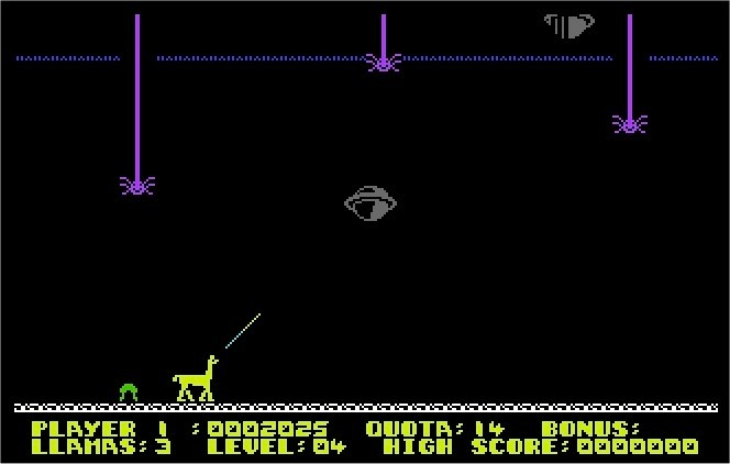 Metagalactic Llamas C64 screenshot