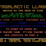 Metagalactic Llamas Amiga screenshot