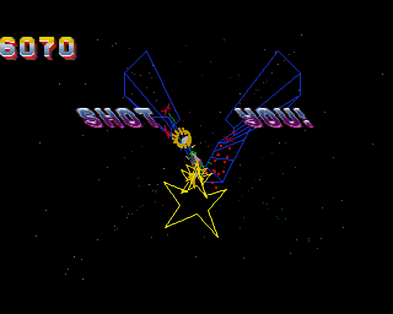 Tempest 2000 PC DOS screenshot